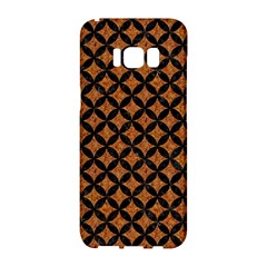 CIRCLES3 BLACK MARBLE & RUSTED METAL Samsung Galaxy S8 Hardshell Case