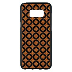 CIRCLES3 BLACK MARBLE & RUSTED METAL Samsung Galaxy S8 Plus Black Seamless Case