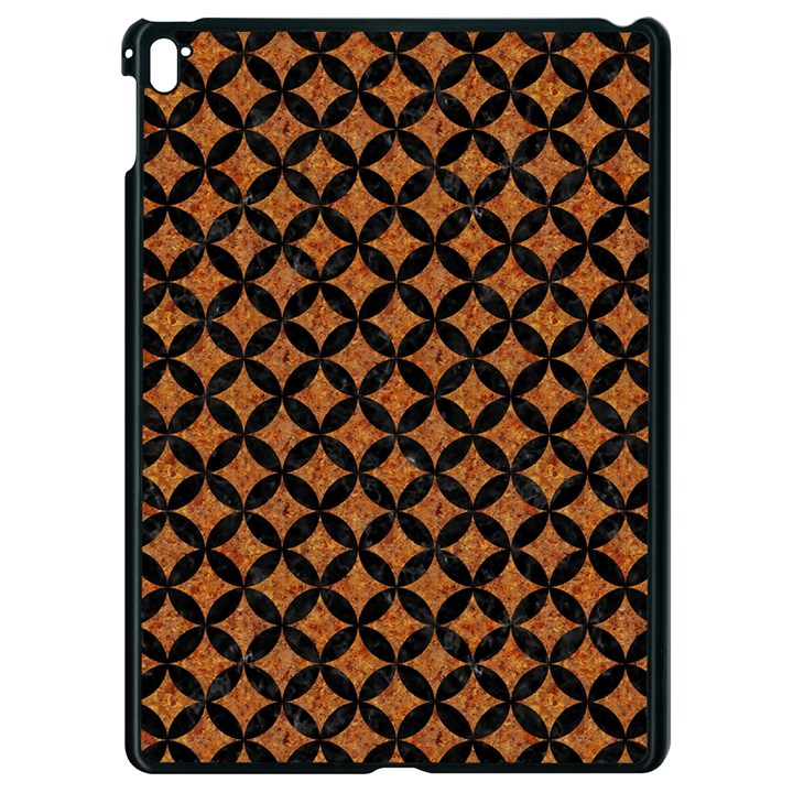 CIRCLES3 BLACK MARBLE & RUSTED METAL Apple iPad Pro 9.7   Black Seamless Case