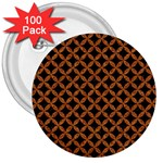 CIRCLES3 BLACK MARBLE & RUSTED METAL (R) 3  Buttons (100 pack)  Front