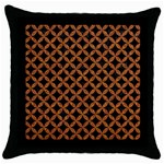 CIRCLES3 BLACK MARBLE & RUSTED METAL (R) Throw Pillow Case (Black) Front