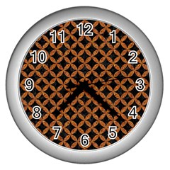 Circles3 Black Marble & Rusted Metal (r) Wall Clocks (silver)  by trendistuff
