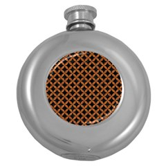 Circles3 Black Marble & Rusted Metal (r) Round Hip Flask (5 Oz) by trendistuff