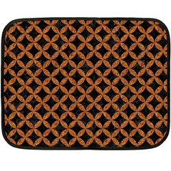 Circles3 Black Marble & Rusted Metal (r) Double Sided Fleece Blanket (mini)  by trendistuff
