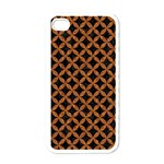 CIRCLES3 BLACK MARBLE & RUSTED METAL (R) Apple iPhone 4 Case (White) Front