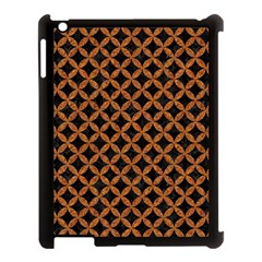 Circles3 Black Marble & Rusted Metal (r) Apple Ipad 3/4 Case (black)