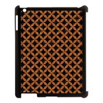 CIRCLES3 BLACK MARBLE & RUSTED METAL (R) Apple iPad 3/4 Case (Black) Front