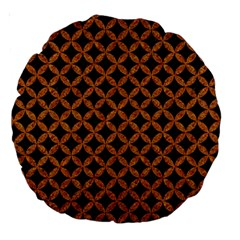 Circles3 Black Marble & Rusted Metal (r) Large 18  Premium Round Cushions by trendistuff