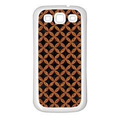 Circles3 Black Marble & Rusted Metal (r) Samsung Galaxy S3 Back Case (white) by trendistuff