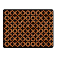 Circles3 Black Marble & Rusted Metal (r) Double Sided Fleece Blanket (small)  by trendistuff