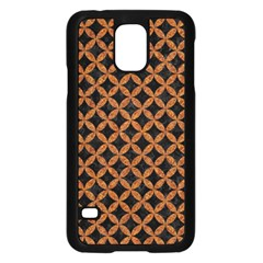 Circles3 Black Marble & Rusted Metal (r) Samsung Galaxy S5 Case (black)