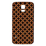 CIRCLES3 BLACK MARBLE & RUSTED METAL (R) Samsung Galaxy S5 Back Case (White) Front
