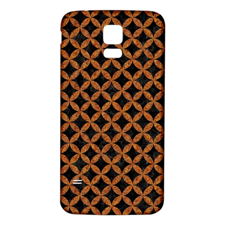 CIRCLES3 BLACK MARBLE & RUSTED METAL (R) Samsung Galaxy S5 Back Case (White)