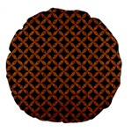 CIRCLES3 BLACK MARBLE & RUSTED METAL (R) Large 18  Premium Flano Round Cushions Back