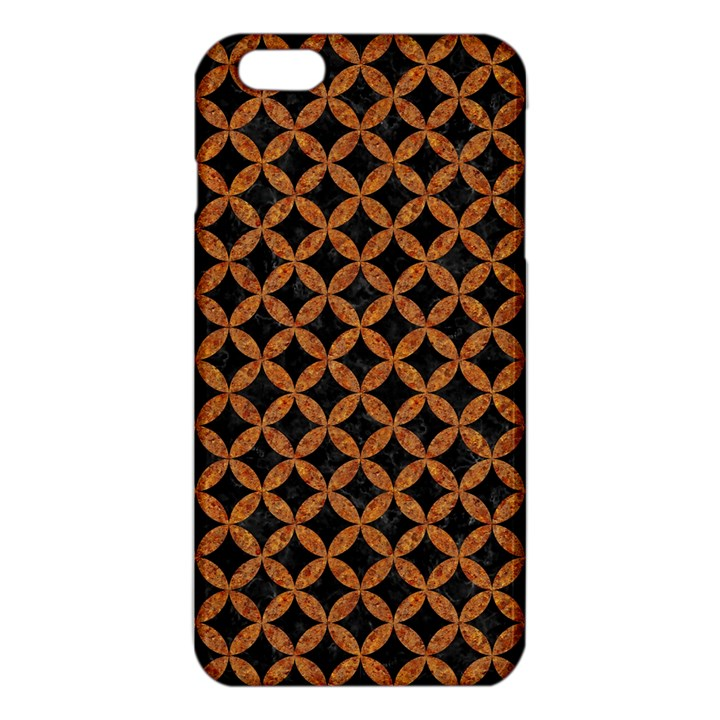 CIRCLES3 BLACK MARBLE & RUSTED METAL (R) iPhone 6 Plus/6S Plus TPU Case