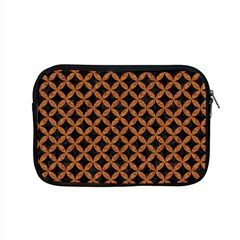 Circles3 Black Marble & Rusted Metal (r) Apple Macbook Pro 15  Zipper Case