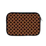 CIRCLES3 BLACK MARBLE & RUSTED METAL (R) Apple MacBook Pro 15  Zipper Case Front