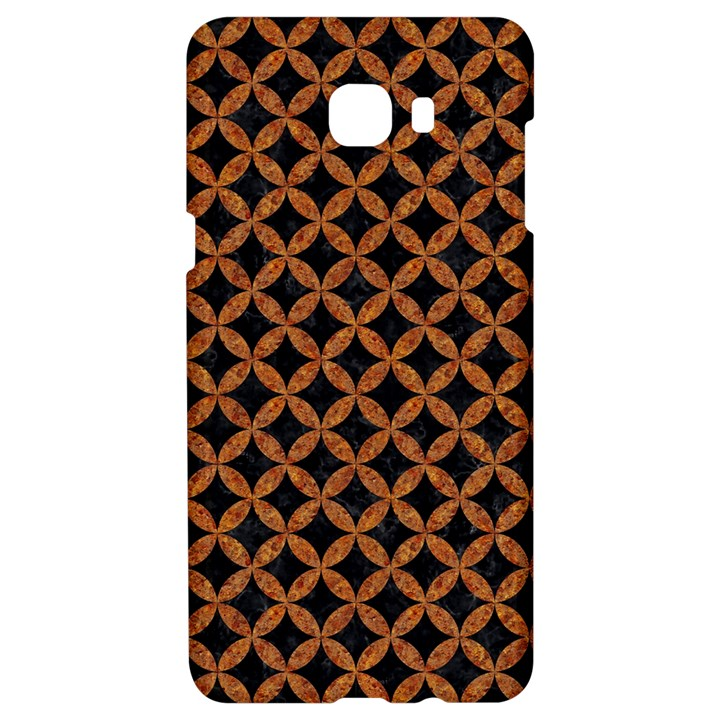 CIRCLES3 BLACK MARBLE & RUSTED METAL (R) Samsung C9 Pro Hardshell Case