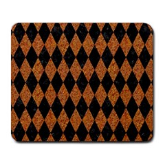 DIAMOND1 BLACK MARBLE & RUSTED METAL Large Mousepads