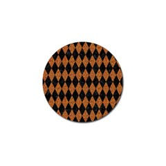 DIAMOND1 BLACK MARBLE & RUSTED METAL Golf Ball Marker (4 pack)