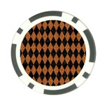 DIAMOND1 BLACK MARBLE & RUSTED METAL Poker Chip Card Guard Back