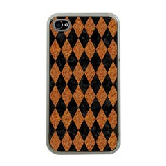 DIAMOND1 BLACK MARBLE & RUSTED METAL Apple iPhone 4 Case (Clear)