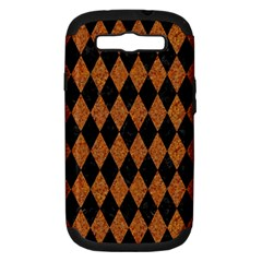 Diamond1 Black Marble & Rusted Metal Samsung Galaxy S Iii Hardshell Case (pc+silicone) by trendistuff
