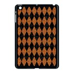 DIAMOND1 BLACK MARBLE & RUSTED METAL Apple iPad Mini Case (Black) Front