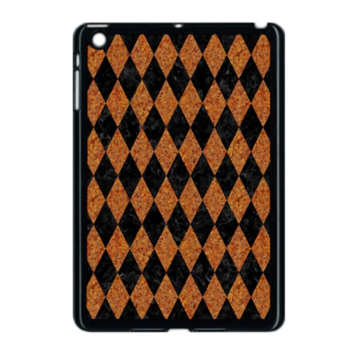 DIAMOND1 BLACK MARBLE & RUSTED METAL Apple iPad Mini Case (Black)