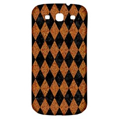 DIAMOND1 BLACK MARBLE & RUSTED METAL Samsung Galaxy S3 S III Classic Hardshell Back Case