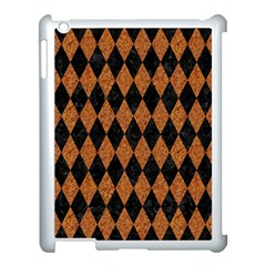 Diamond1 Black Marble & Rusted Metal Apple Ipad 3/4 Case (white) by trendistuff