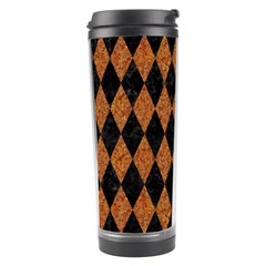 Diamond1 Black Marble & Rusted Metal Travel Tumbler by trendistuff