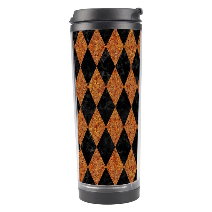 DIAMOND1 BLACK MARBLE & RUSTED METAL Travel Tumbler