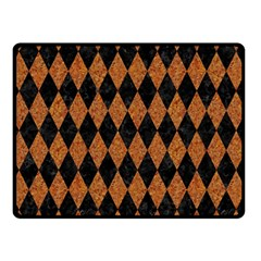 DIAMOND1 BLACK MARBLE & RUSTED METAL Double Sided Fleece Blanket (Small)