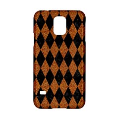Diamond1 Black Marble & Rusted Metal Samsung Galaxy S5 Hardshell Case