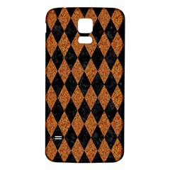 DIAMOND1 BLACK MARBLE & RUSTED METAL Samsung Galaxy S5 Back Case (White)