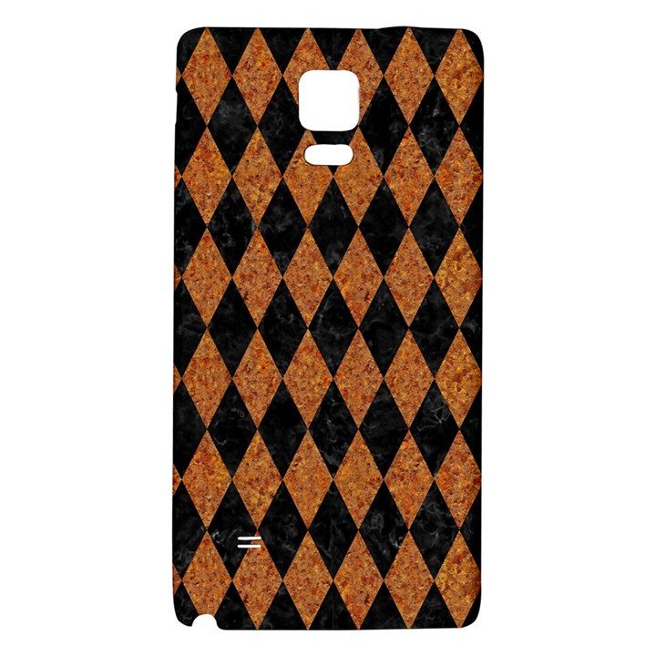 DIAMOND1 BLACK MARBLE & RUSTED METAL Galaxy Note 4 Back Case
