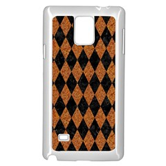 DIAMOND1 BLACK MARBLE & RUSTED METAL Samsung Galaxy Note 4 Case (White)