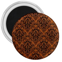 DAMASK1 BLACK MARBLE & RUSTED METAL 3  Magnets