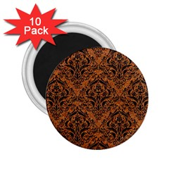 DAMASK1 BLACK MARBLE & RUSTED METAL 2.25  Magnets (10 pack)