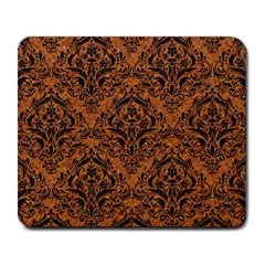 Damask1 Black Marble & Rusted Metal Large Mousepads by trendistuff