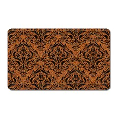 Damask1 Black Marble & Rusted Metal Magnet (rectangular) by trendistuff