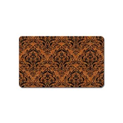 DAMASK1 BLACK MARBLE & RUSTED METAL Magnet (Name Card)