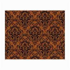 DAMASK1 BLACK MARBLE & RUSTED METAL Small Glasses Cloth (2-Side)