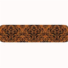 Damask1 Black Marble & Rusted Metal Large Bar Mats by trendistuff
