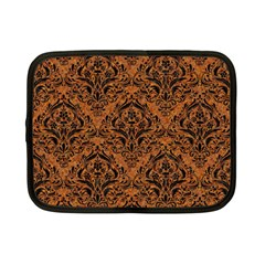 DAMASK1 BLACK MARBLE & RUSTED METAL Netbook Case (Small)