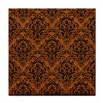 DAMASK1 BLACK MARBLE & RUSTED METAL Face Towel Front