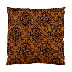 Damask1 Black Marble & Rusted Metal Standard Cushion Case (one Side) by trendistuff