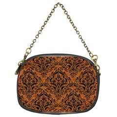DAMASK1 BLACK MARBLE & RUSTED METAL Chain Purses (Two Sides)