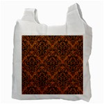 DAMASK1 BLACK MARBLE & RUSTED METAL Recycle Bag (Two Side)  Back